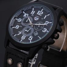 Reloj clásico de hombre Vintage a prueba de agua fecha cuero Correa cuarzo ejército reloj hombres Casual deporte relojes reloj de hombres de negocio 2020