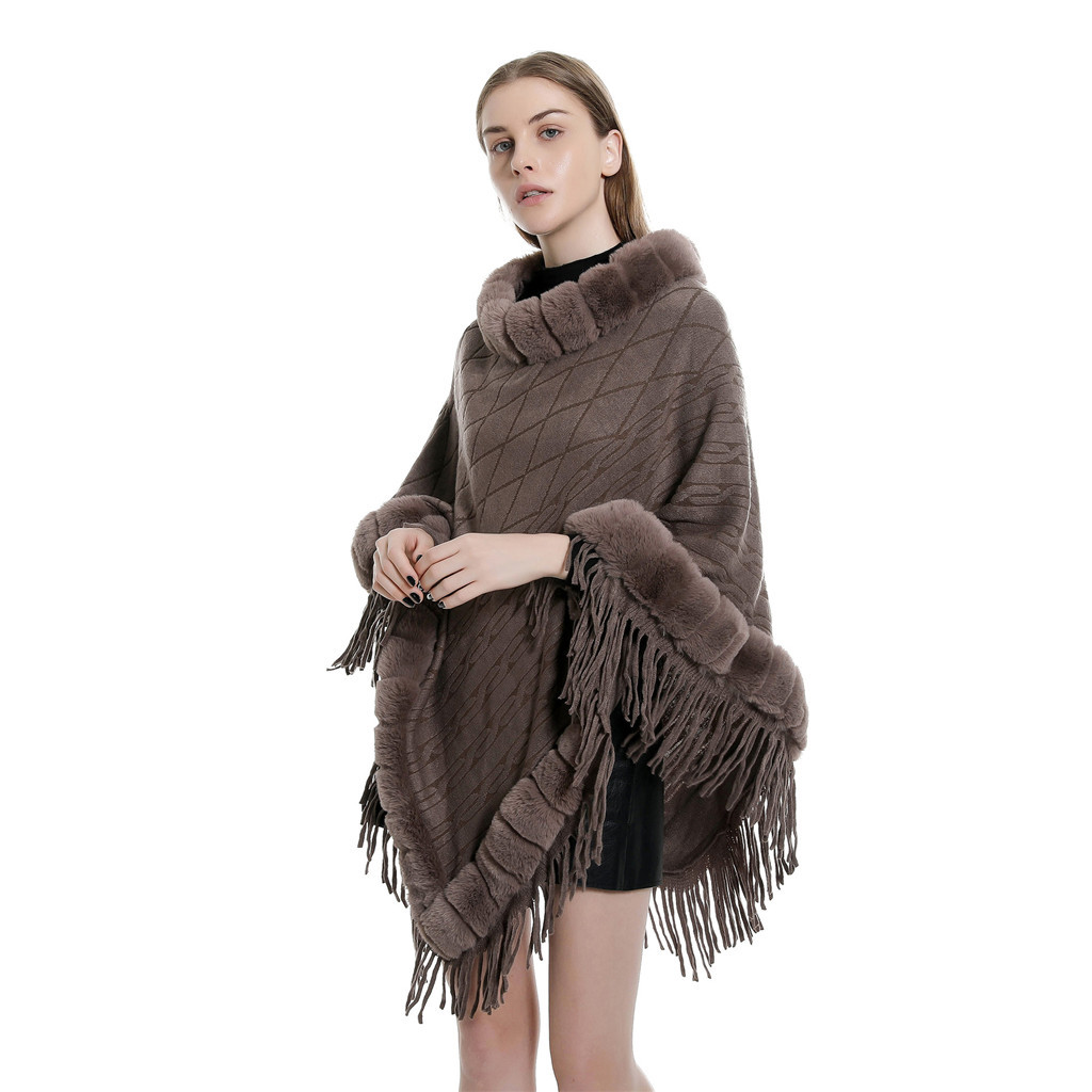 KLV Scarf Poncho Scarf Women's Solid Color Collar Lady Imitation Sweater Cape Coat Blanket Shawls шарф женский Free Shipping D4