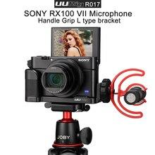 UURig R017 Vlog L Plate Cho Sony RX100 VII Giày Lạnh Gắn Micro Tay Cầm