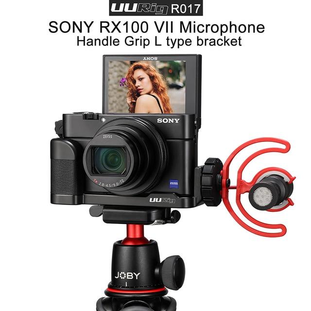 UURig R017 Vlog L Platte für Sony RX100 VII Kalten Schuh Montieren Mikrofon Griff Grip