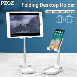 PZOZ stojak na telefon biurko dla iPhone XS 11 Pro MAX 8 iPad Samsung Galaxy S10 S9 S8 uwaga 8 9 stojak na telefon komórkowy uchwyt na tablet