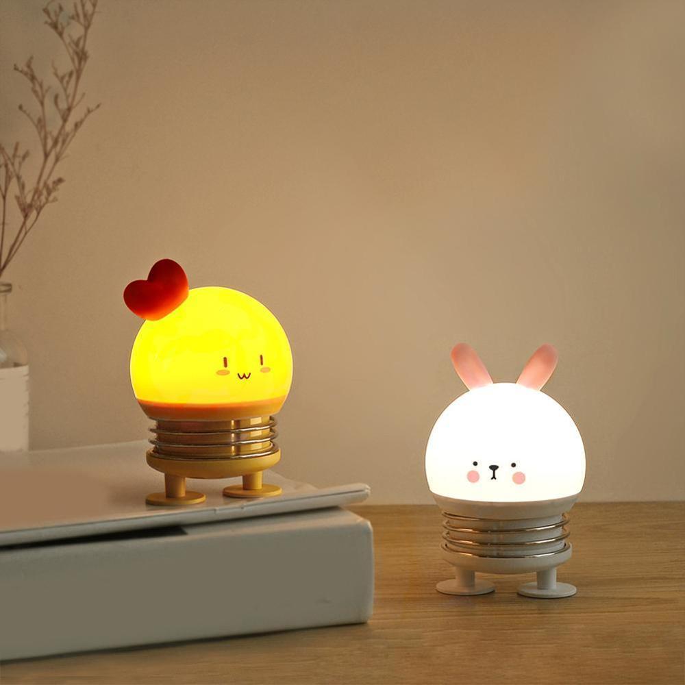Creative table lamp bedside cartoon toy decoration rabbit elk egg shell gift