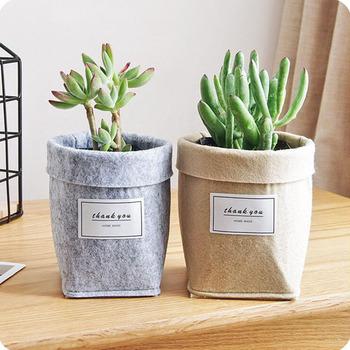 Kreatywny dom doniczka Retro wnętrze proste soczyste ogrodnictwo doniczka wełna filc pulpit doniczka tanie i dobre opinie EH-LIFE CN (pochodzenie) Wool felt CLASSIC 2017456 Kwiat zielonych roślin Rozwijaj torby