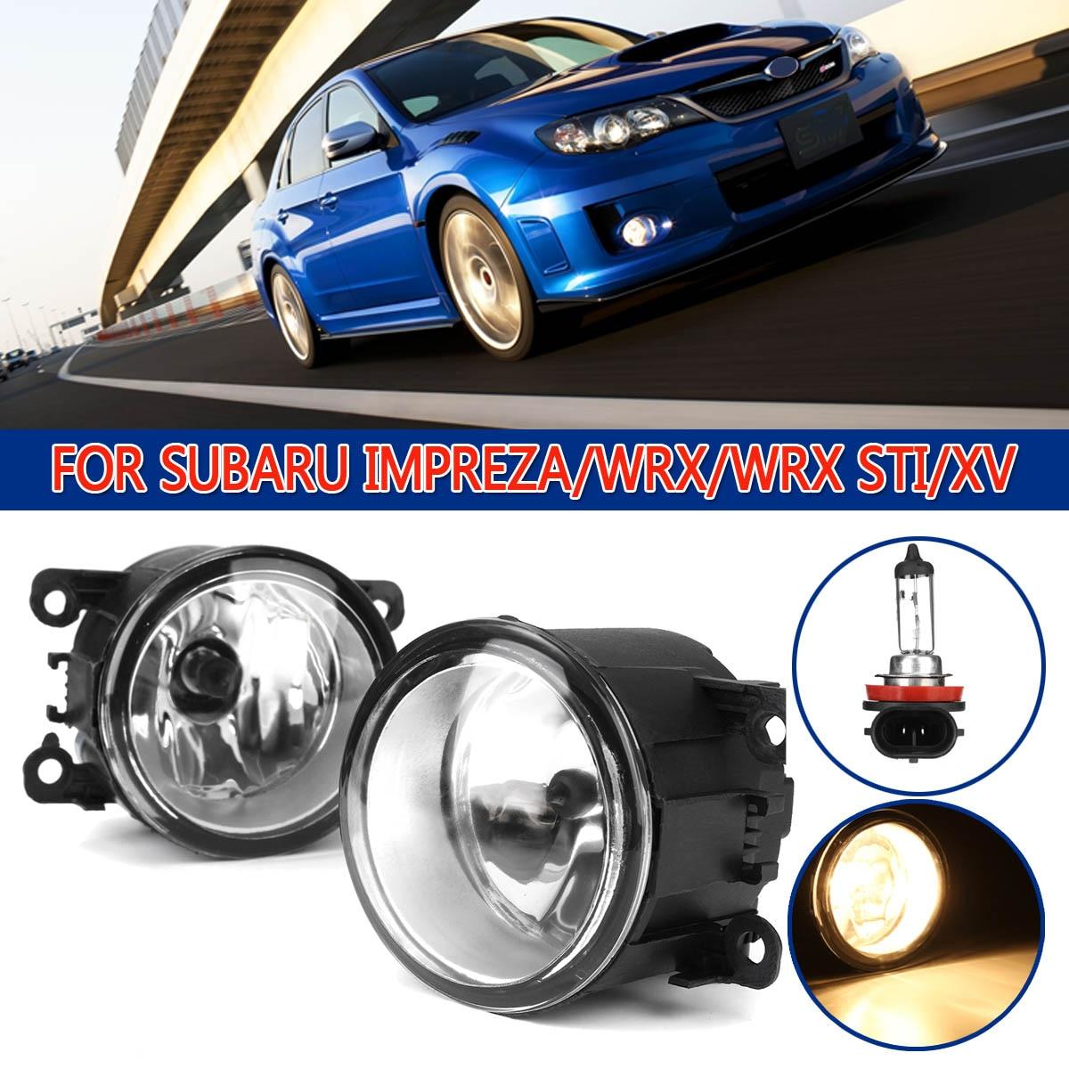 H11 12V 55W Front Fog Light Clear Lens w/o Wiring Kit For Subaru Crosstrek 16-17 Impreza 12-15 WRX STI 2015 XV Crosstrek 13-14