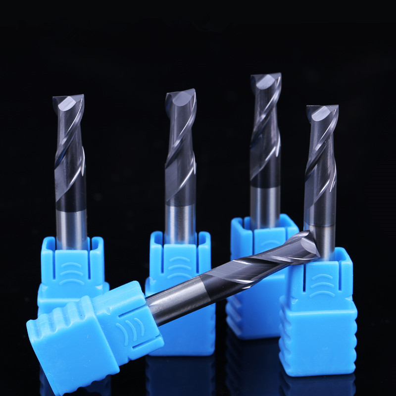 ZGT Alloy Carbide Tungsten Steel Endmill HRC50 2 Flute Cnc Metal Cutter Milling Tools Milling Cutter End Mill 1.5mm 2mm 2.5mm