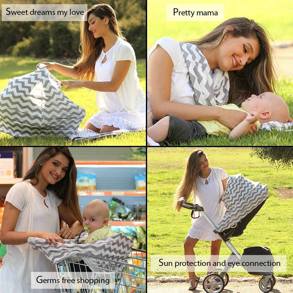 לנשימה סיעוד צעיף מגבת כיסוי הנקה תינוק סיאט החופה כיסוי סינר צעיף אנטי התרוקן האכלת כיסוי מגבת