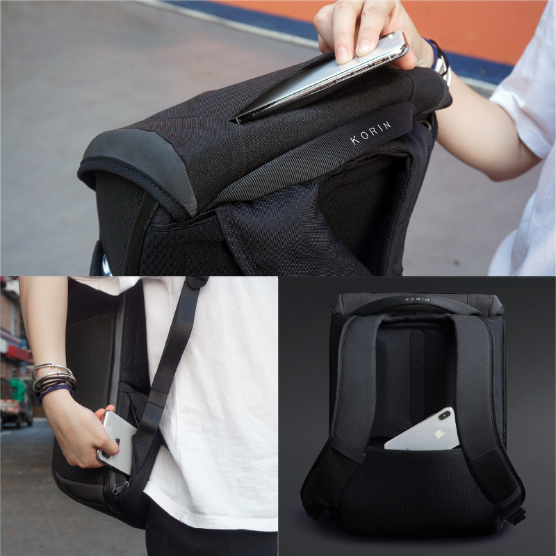 Anti-Theft Waterproof Cut-Proof 15.6 inch Laptop Backpack 12