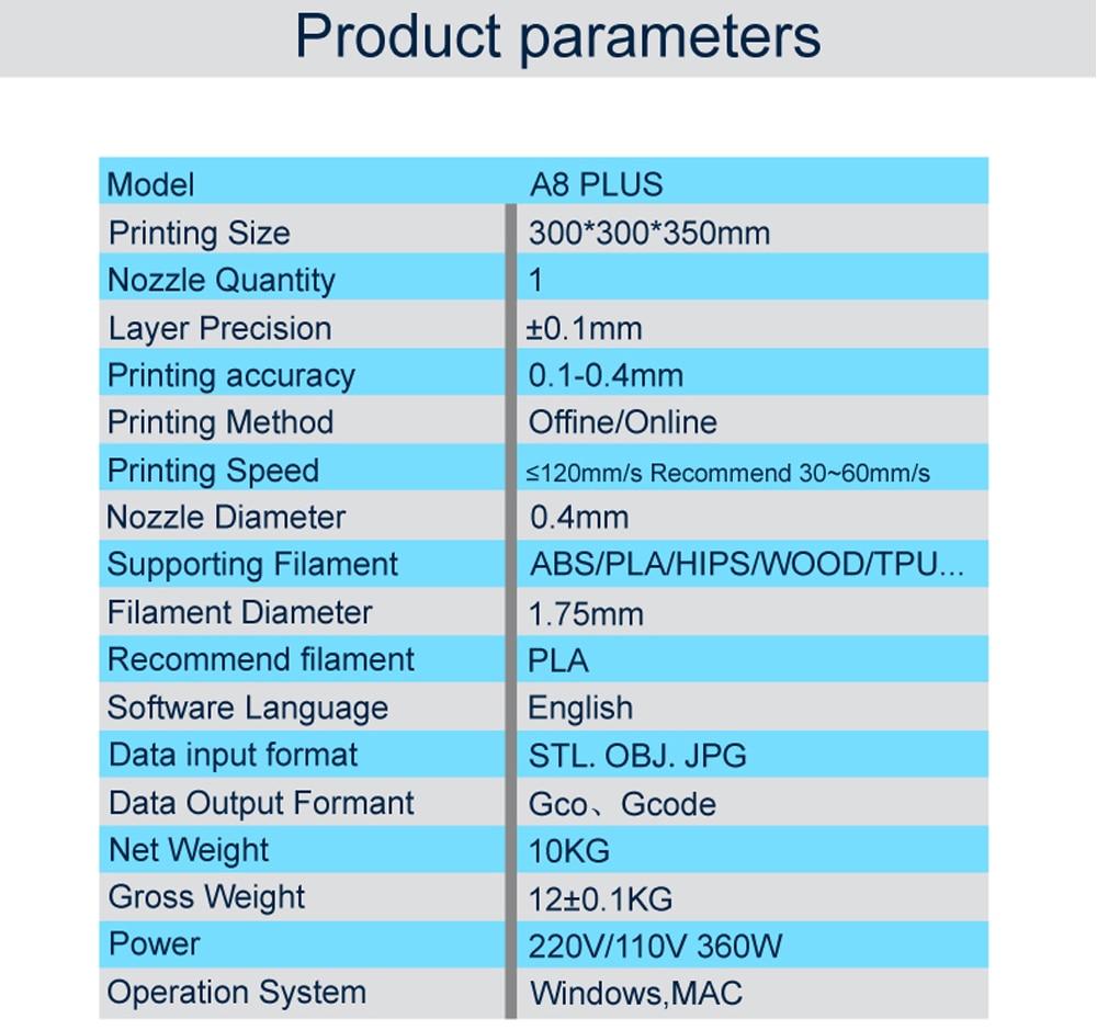 A8-Plus 3D Printer 19-01