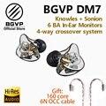 BGVP DM7 6 BA в ухо Мониторы HIFI наушники новый 2019 настроить IEM Ноулз sonion драйверы