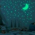 338 шт в форме звезды, которая светится наклейки на стену светится в темноте звезды для детской комнаты, Гостиная DIY Wall Art домашний Декор накле...