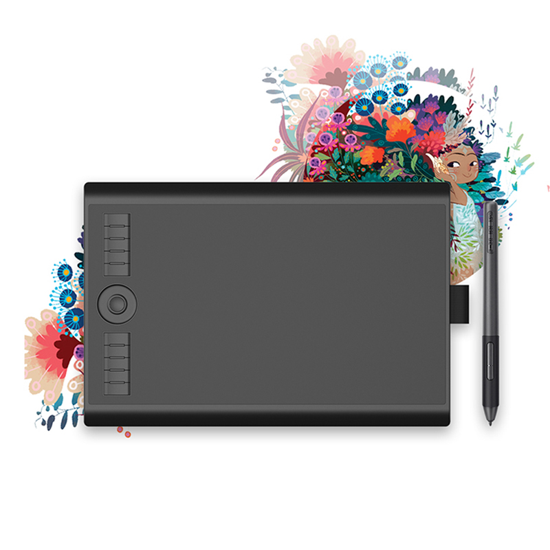 Gaomon m10k pro 10*6.25 graphic graphic gráfico caneta tablet placa de desenho com 8192 pressão bateria-livre stylus suporte otg função