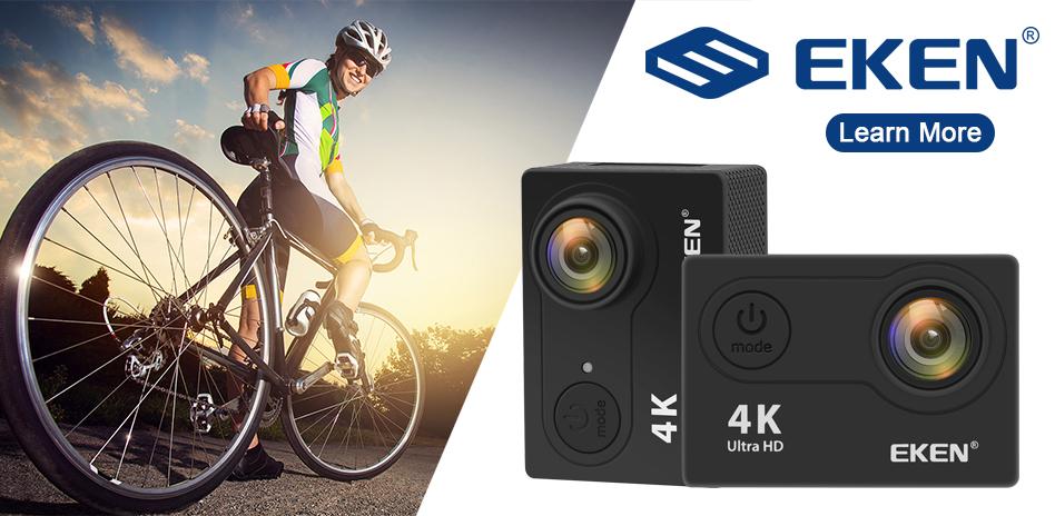"""EKEN H9R/H9 Ultra HD 4 K/30fps WiFi 2,0 """"170D impermeable bajo el agua 1"""
