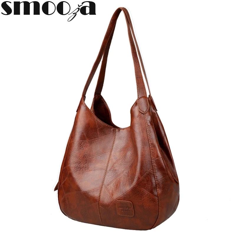 SMOOZA Vintage Womens Hand bags Designers Luxury Handbags Women Shoulder Bags Female Top handle Bags Fashion Brand Handbags