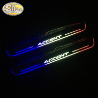 Waterproof Ultrathin Acrylic LED door sill for Hyundai accent Led moving door scuff plate RGB Neon Colorful Pathway light