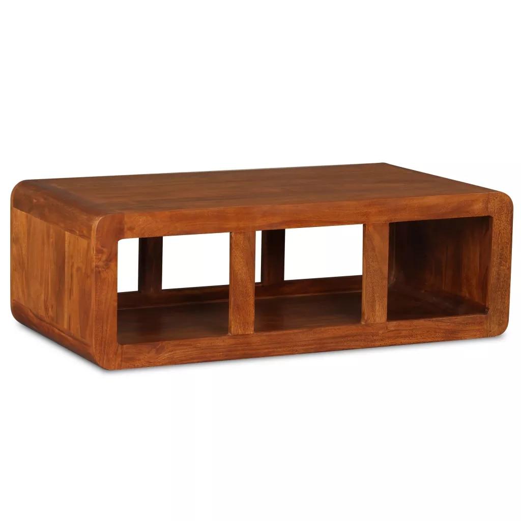 Журнальный столик из массива дерева с отделкой из шишема 90x50x30 см простой дизайн приставные столики в стиле ретро журнальный столик
