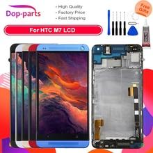 801e Single SIM LCD Voor HTC Een M7 Lcd scherm 4.7 inch Touch Screen Vervanging Digitizer Vergadering met Frame 1 jaar Garantie
