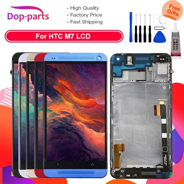 801e Đơn SIM LCD Cho HTC One M7 Màn Hình LCD Hiển Thị Màn Hình Cảm Ứng 4.7 inch Thay Thế Bộ Số Hóa có Khung 1 năm Bảo Hành