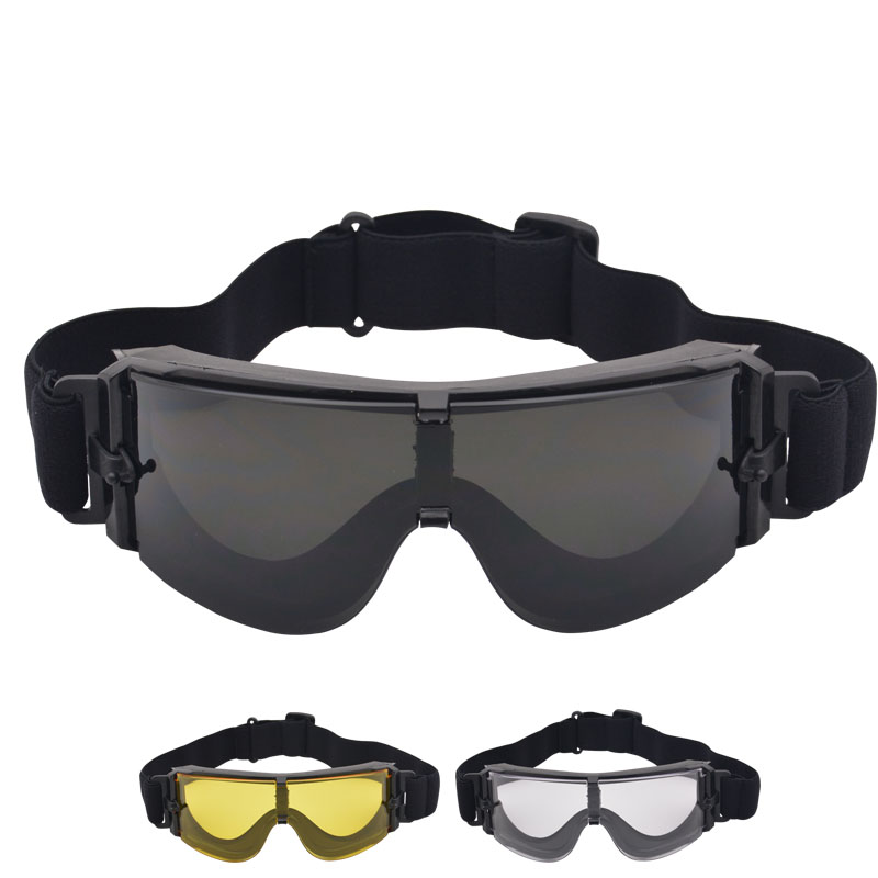 Ski Goggles Tactical Glasses Explosion-proof Army Shock-resistant Field Special Forces Protective Skiing Snowboarding Glasses