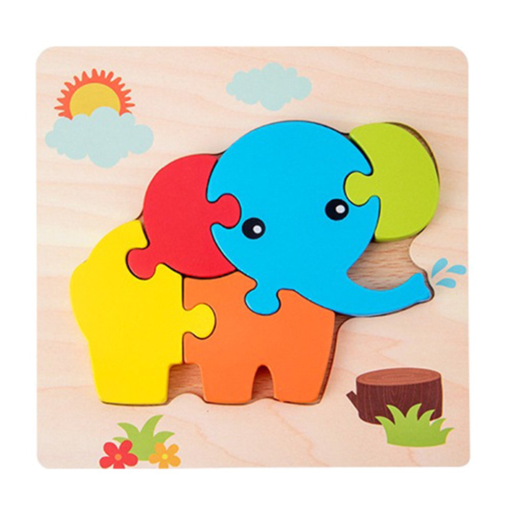 Children Jigsaw 3D Puzzle Stereo Intelligence Development Boys And Girls Wooden Early Childhood Toys Educational Toys