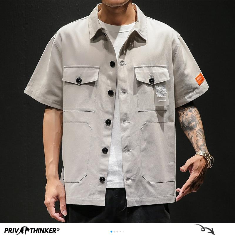 Tootless-Men Leisure Oversize Business Striped Button Down Shirt