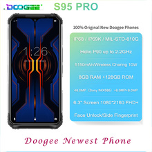 DOOGEE S95 Pro IP68 Helio P90 ثماني النواة 8GB 128GB أندرويد 9.0 الهواتف المحمولة وحدات جوّال المهامّ الوعرة 6.3 بوصة FHD عرض 5150mAh