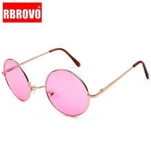 RBROVO 2018 Candy Color Round Sunglasses Women Fashion Sun G
