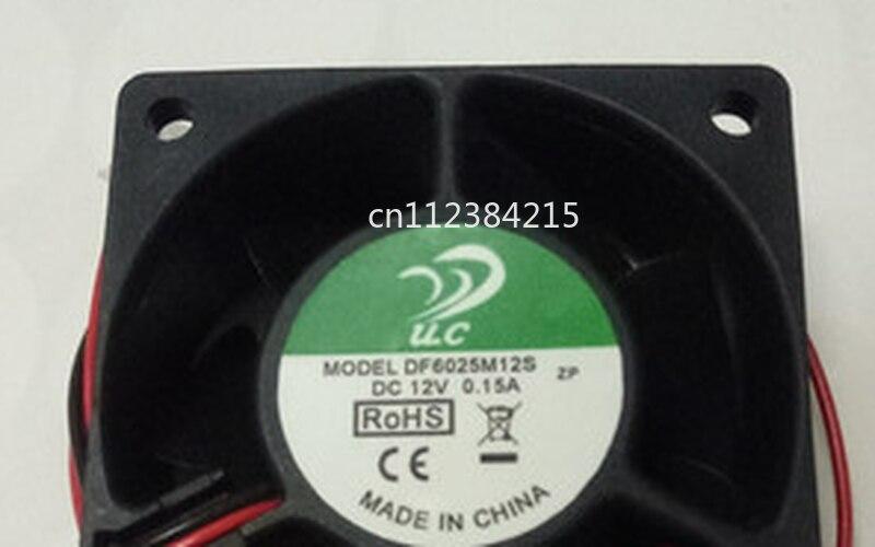 Free Shipping For U.C DF6025M12S DC 12V 0.15A 60x60x25mm 2-wire Server Cooler Fan