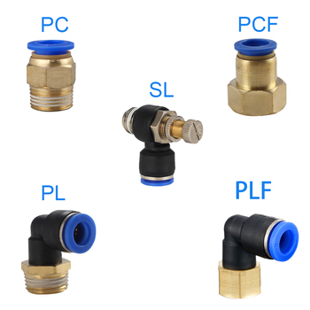 1PCS Pneumatic Quick Connector PCF PC PL SL PB 4MM-12mm Hose Tube Air Fitting 1/4 1/8 3/8 1/2BSPT Male Thread Pipe Coupler 1 pcs 1 8 1 4 3 8 1 2 npt bspt male thread x inch tube od pneumatic kitchen pipe compression plug connector fitting sus 304