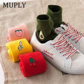 2020 Ladies Cute Pattern Cotton Socks Kawaii Casual Spring Summer Autumn Long Women Fruit