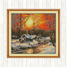 Embroidery-Kit Cross-Stitch-Kits Counted Scenery-Painting Needlework 11ct 14ct The DIY