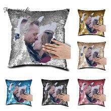Индивидуальные декоративные подушки для дома, индивидуальная наволочка, наволочка с принтом, фото, изображение, блестки