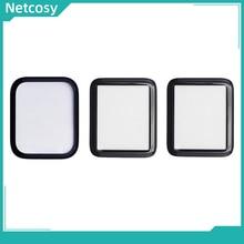 Netcosy capa de reposição para apple watch, peça de reposição para lente de vidro frontal e externa, 40mm 44mm para apple watch series 1 2 3 4 vidro lcd 5 38mm 42mm 40mm 44mm
