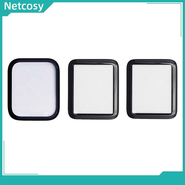 Netcosy piezas de repuesto para cubierta de cristal exterior frontal de 40mm y 44mm para Apple watch series 1, 2, 3, 4, 5, 38mm, 42mm, 40mm, 44mm, cristal LCD