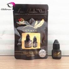 5 Flessen Zwarte Dame Lijm Wimper Extensions Originele Lage Irritatie 2 3S Sneldrogende Voor Gevoelige Huid Blijvende 5 6weeks