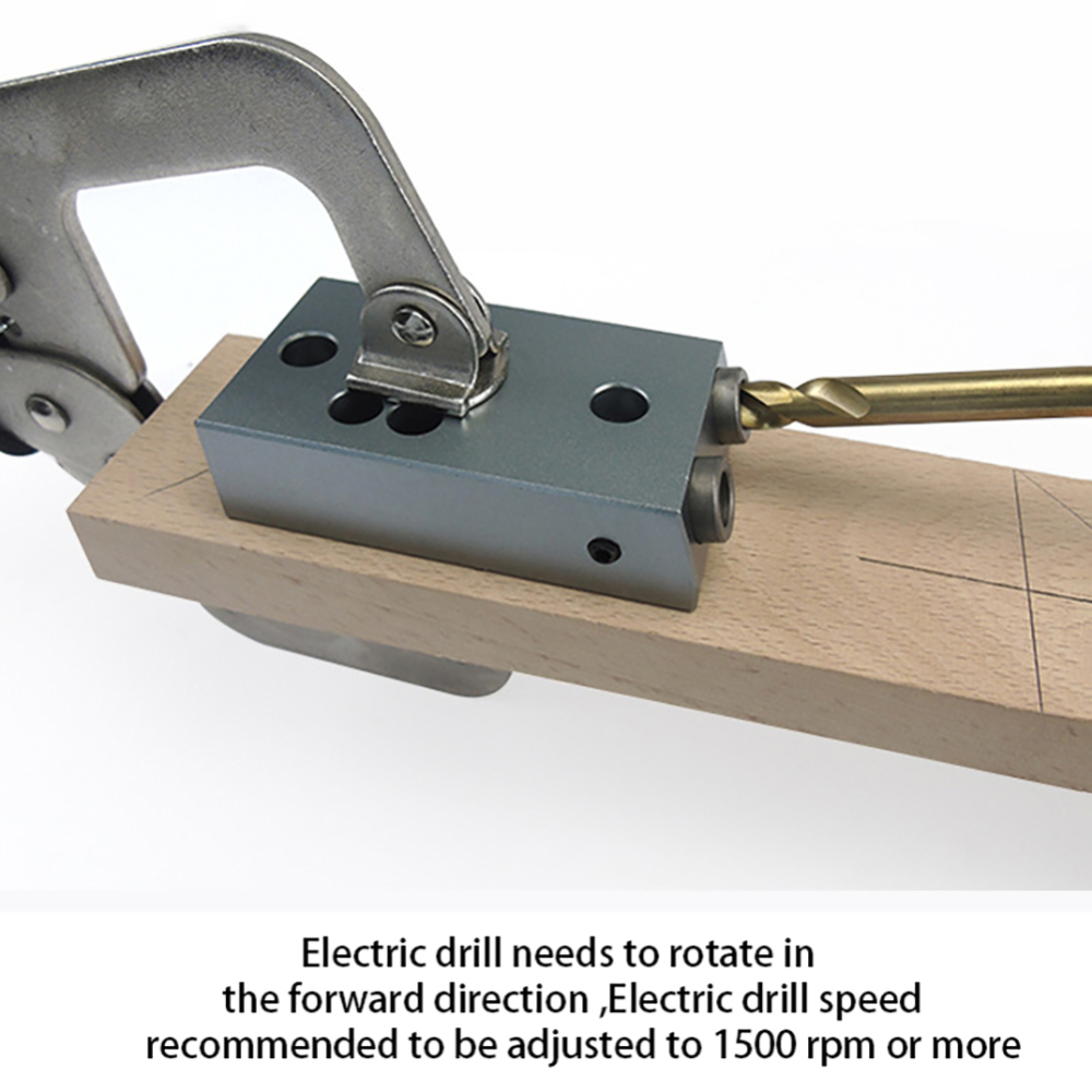 Aluminium Alloy Oblique Punch Locator Woodworking Hand Tool Set Drilling Tool Wood Working Precise Self Centering Dowelling Jig