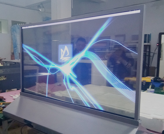 55 Inch Advertising Transparent OLED Display Signage