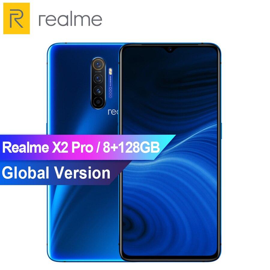 """Version mondiale realme X2 Pro Snapdragon 855 Plus 8GB 128GB ROM 6.5 """"NFC téléphone portable 64MP Quad caméra 50W Super VOOC Charge rapide"""