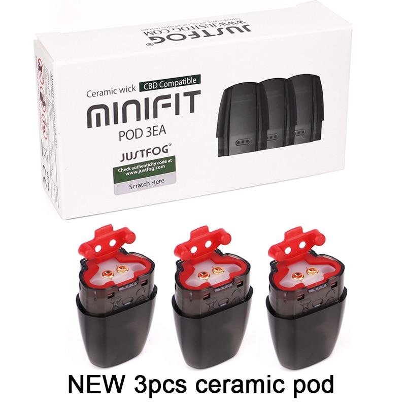 Original 3pcs/pack JUSTFOG Minifit Pod Ceramic Pod 1.5ml Capacity Fit For JUSTFOG Minifit Kit  Electronic Cigarette Vape Pod