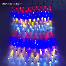 Toprex RGYB net light 1.5x1.5m multi colour christmas led string halloween decoration diy holiday lighting