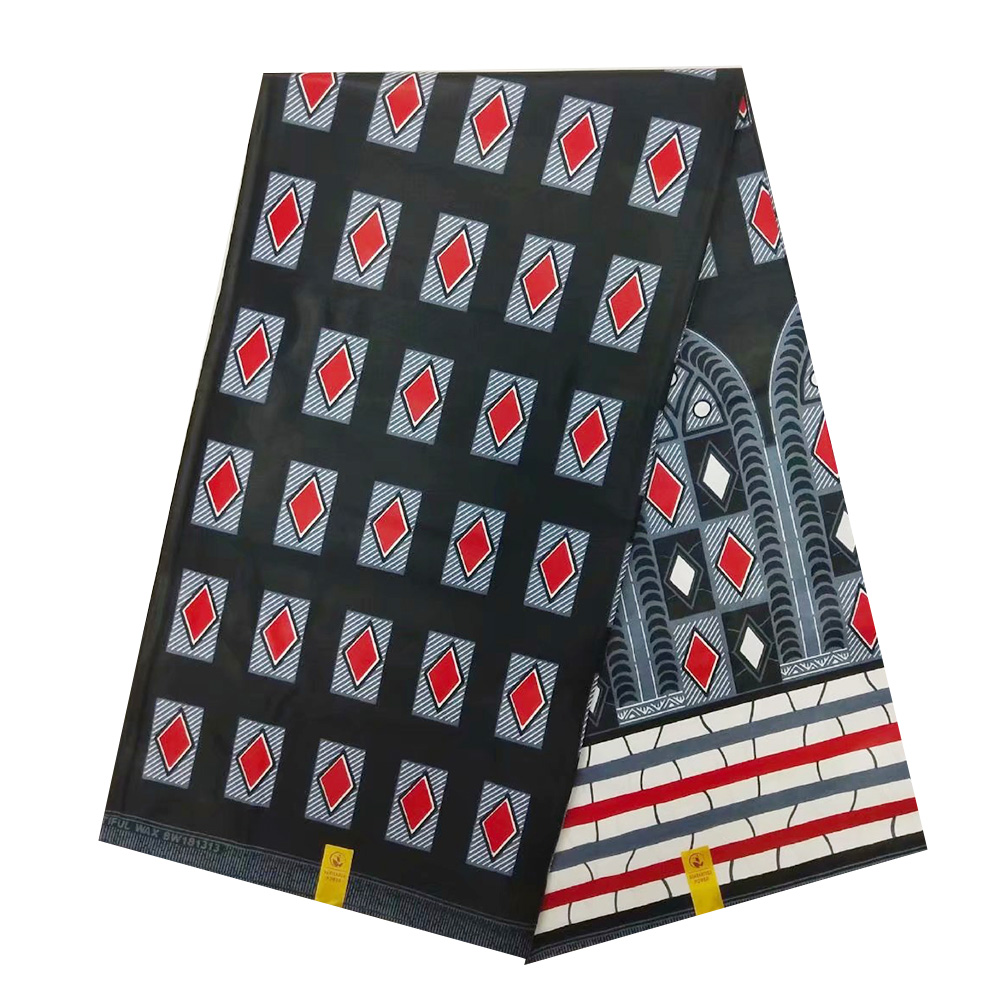 African Wax Pange Fabric 100% Cotton High Quality Beautiful Real Dutch Print Wax Holland For Ghana Nigerian Ankara Dress 6 Yards