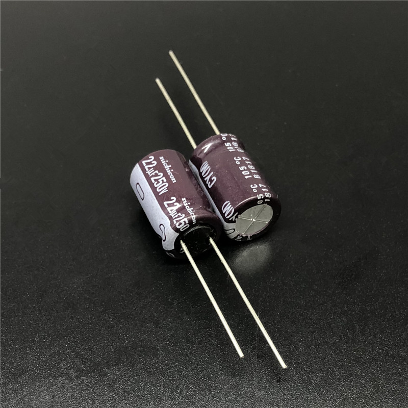 5Pcs/50Pcs 22uF 250V NICHICON CY Series 10x16mm High Ripple Current Long Life 250V22uF Aluminum Electrolytic Capacitor