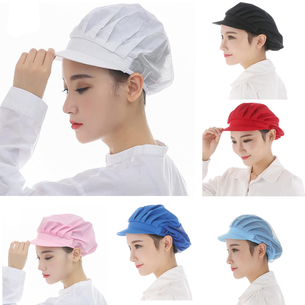Adjustable Mesh Caps Men Women Elastic Kitchen Baker Chef Cap Hat Catering For Restaurants Pubs Cafes Commercial Kitchens