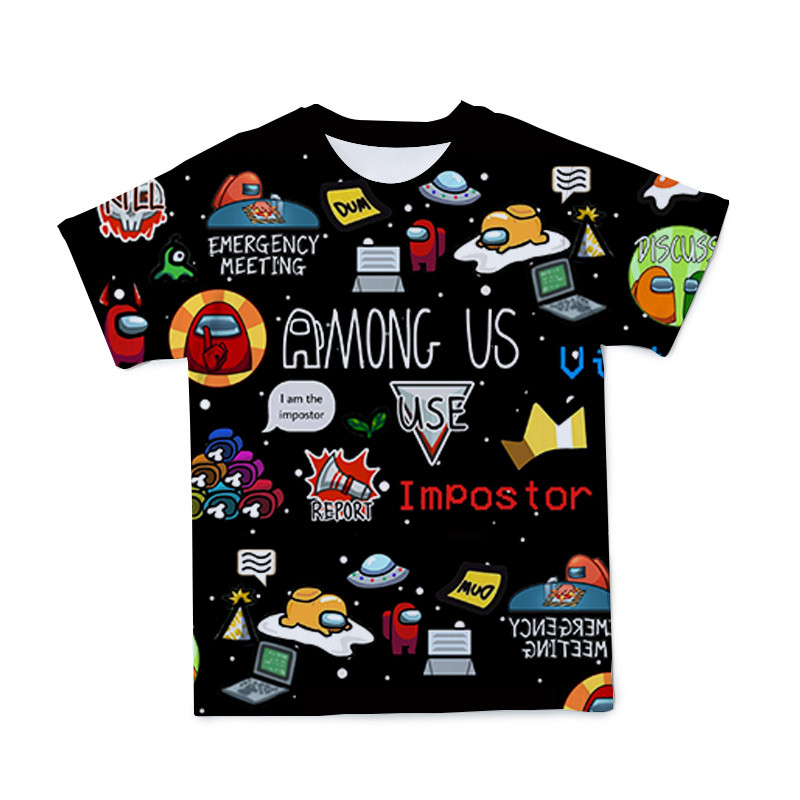 Summer 3D Short Sleeve T-Shirt For Boys Cartoon Boy Anime T-Shirt Fashion Casual Short Sleeve Kids Size 4T-14T 2021