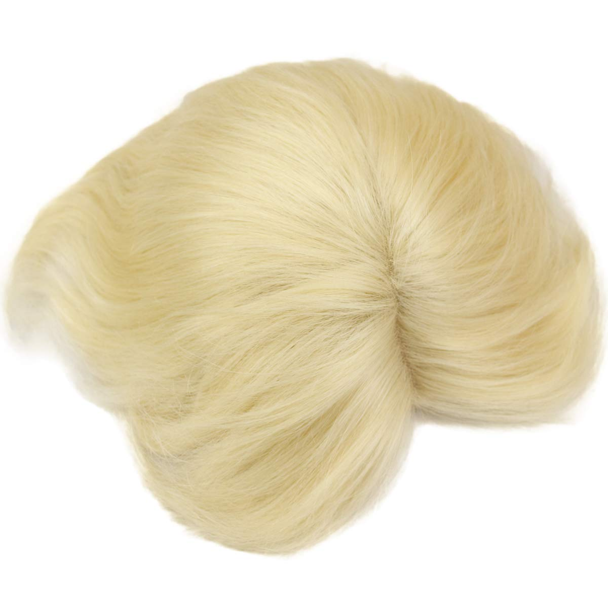 Swiss Full Lace Men's Toupee European Real Human Hair Replacement for Men Hairpiece #613 Blonde Color