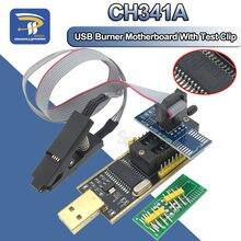 Soic8 sop8 clipe de teste para eeprom 93cxx/25cxx/24cxx adaptador + ch341a 24 25 série flash bios módulo programador usb