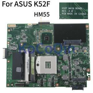 KoCoQin laptop Motherboard Für ASUS K52F X52F A52F K52J Mainboard REV.2.0 HM55