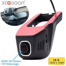 Xcgaoon wifi carro dvr registrador de vídeo digital filmadora câmera traço 1080p noite versão novatek 96655, cam pode girar