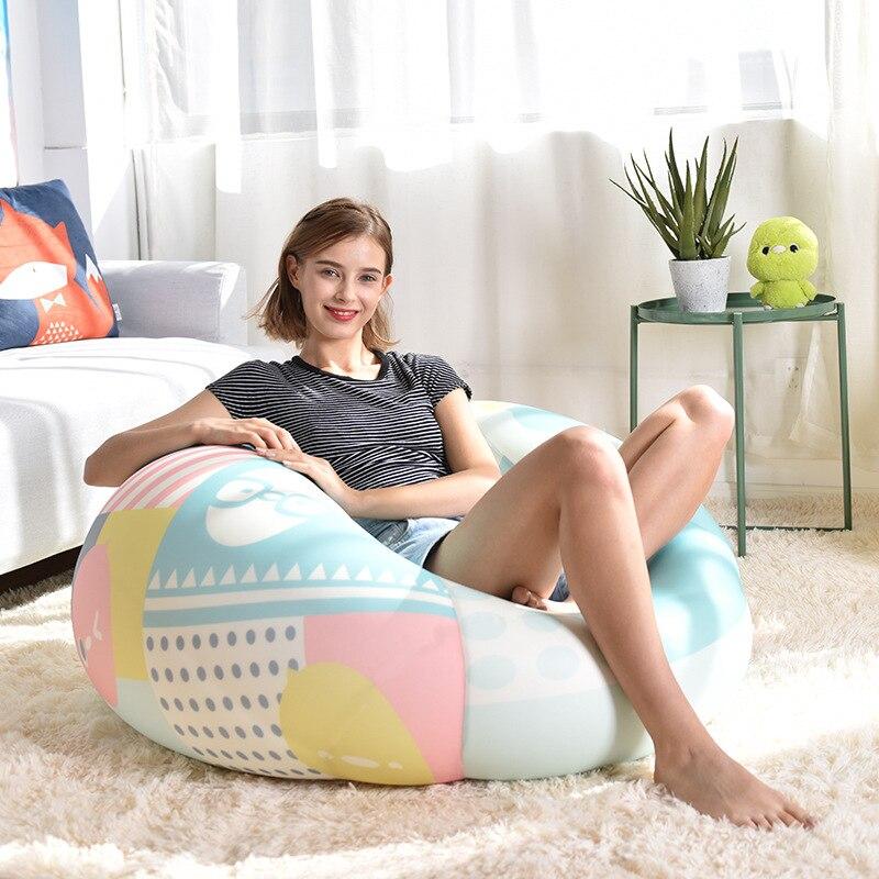 Dessin animé imprimé Pouf canapé sans remplissage paresseux chaise siège canapé chaise longue Pouf canapé-lit Pouf bouffée canapé Tatami meubles de maison
