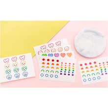4pcs/lot New Cartoon Smile Face Tattoo PVC StickerMultifunction Student Gift  Scrapbooking office decor stationery