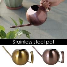 1000Ml Stainless Steel Watering Can Fleshy Water Kettle Gold Long Mouth Watering Pot For Sowing Planting Outdoor Gardens Plants
